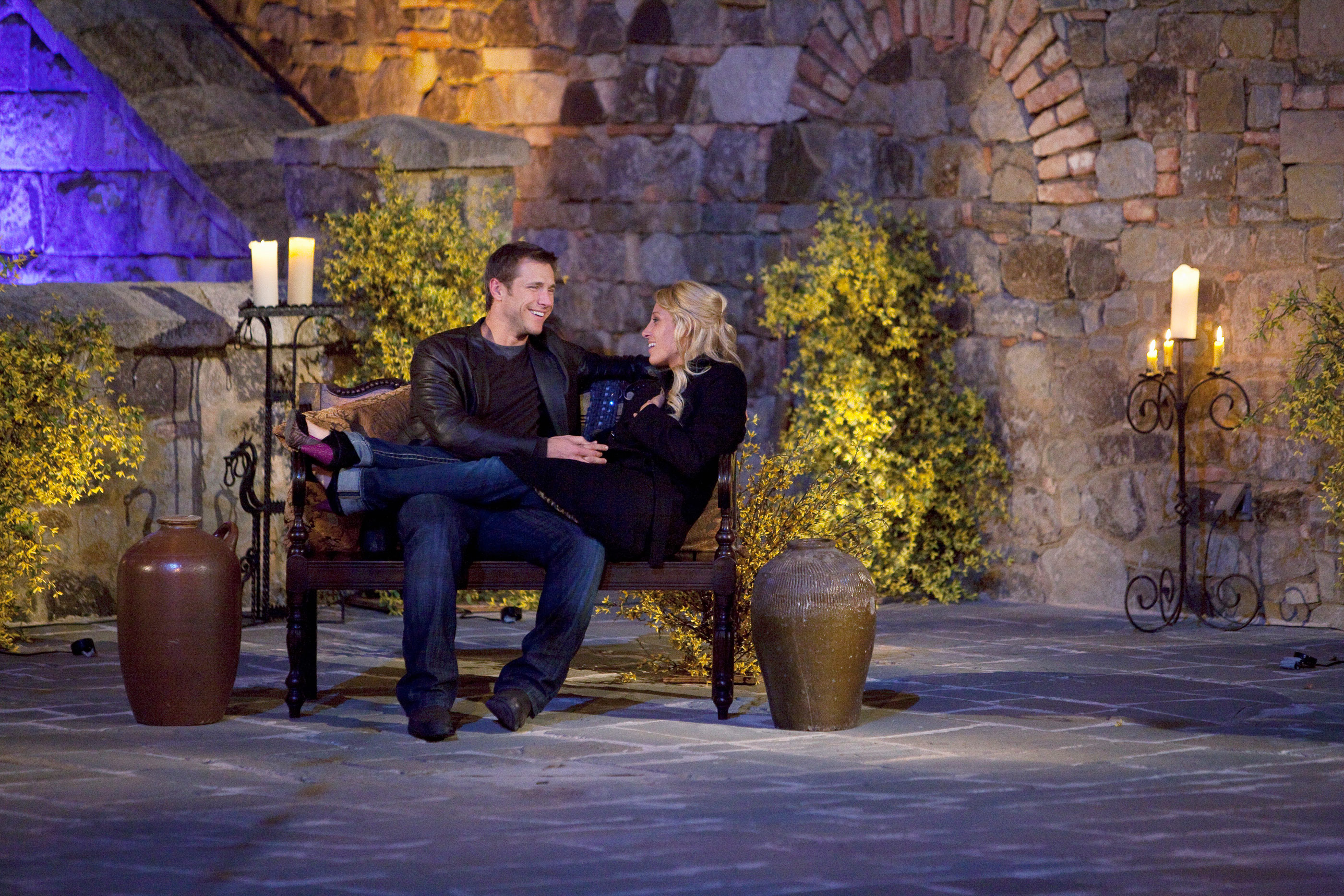 "THE BACHELOR: ON THE WINGS OF LOVE - ""Episode 1405"" - The pressure was really on, as Jake struggled to decide which four women he would escort home to meet their families. But first, the five remaining bachelorettes ended their adventurous road trip in the romantic city of San Francisco. On the two-on-one date, one bachelorette had no problem dominating the dinner conversation. With the beautiful Castello di Amorosa winery in Napa Valley as a backdrop, the romance between Jake and one of the women intensified. But the other bachelorette wasn't about to see another woman get between her and her man. When the trio headed off to their respective bedrooms in the castle, Jake got a late night surprise visit, on ""The Bachelor: On the Wings of Love,"" MONDAY, FEBRUARY 1 (8:00-10:00 p.m., ET), on the ABC Television Network."