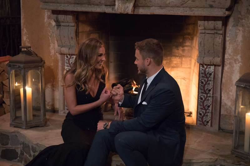 Hannah B. and Colton Underwood on  Episode 2301  of THE BACHELOR on ABC