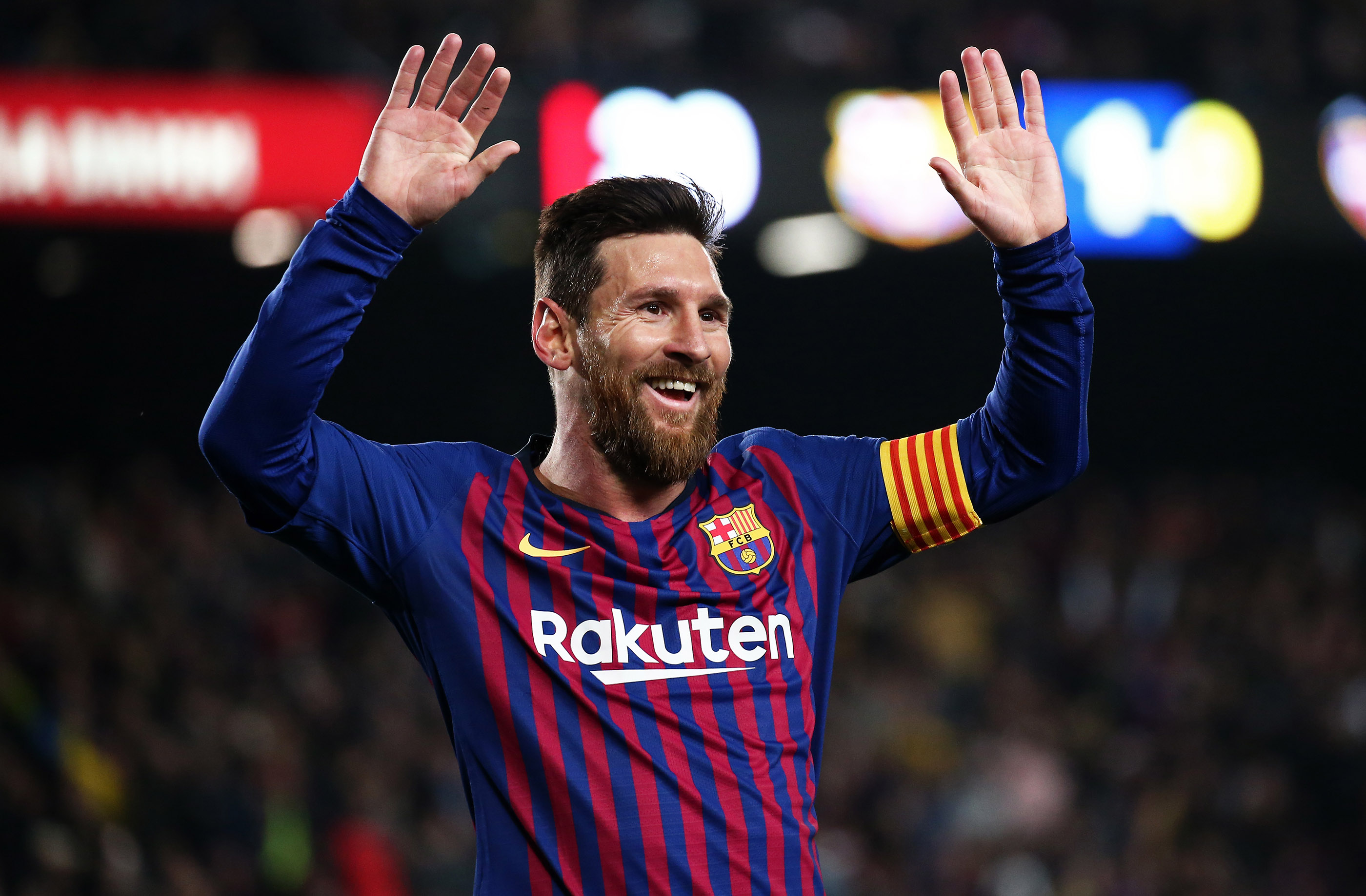 Leo Messi during the match between FC Barcelona and Levante UD, corresponding to the 1/8 final of the spanish cup, played at the Camp Nou Stadium, on 17th January 2019, in Barcelona, Spain.