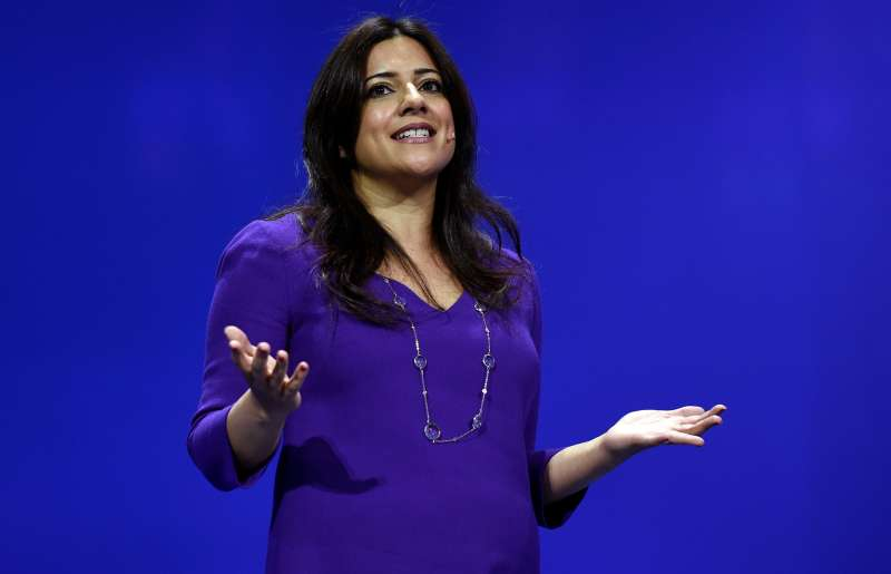 Reshma Saujani, founder and chief executive officer of Girls Who Code Inc., speaks during the International Business Machines Corp. (IBM) InterConnect 2017 conference in Las Vegas, Nevada, U.S., on Tuesday, March 21, 2017.