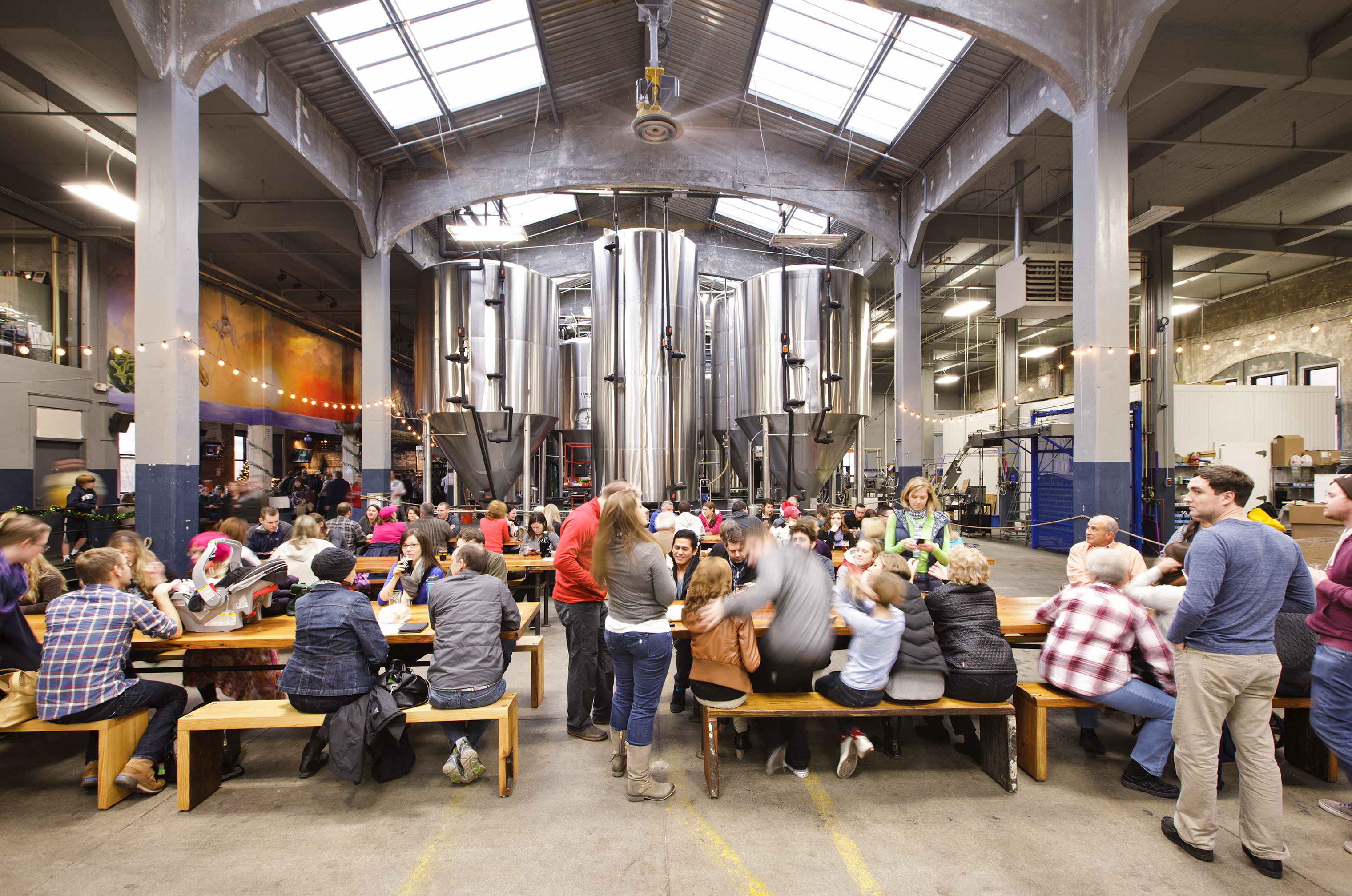 Rhinegeist Brewery, one of Cincinnati's 47 breweries, features a taproom and tasting tours.