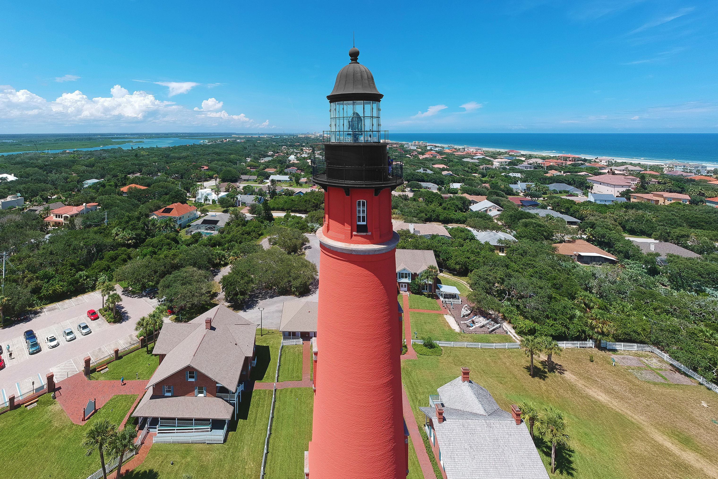 The well-preserved Ponce de Leon Inlet Lighthouse towers above the town.