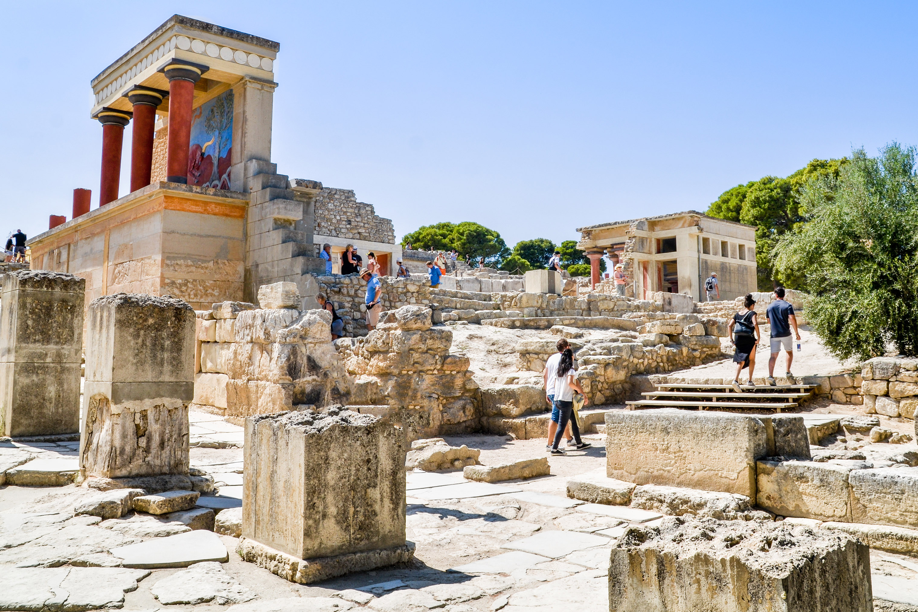 The excavated site of Knossos is one of Crete's most popular attractions.