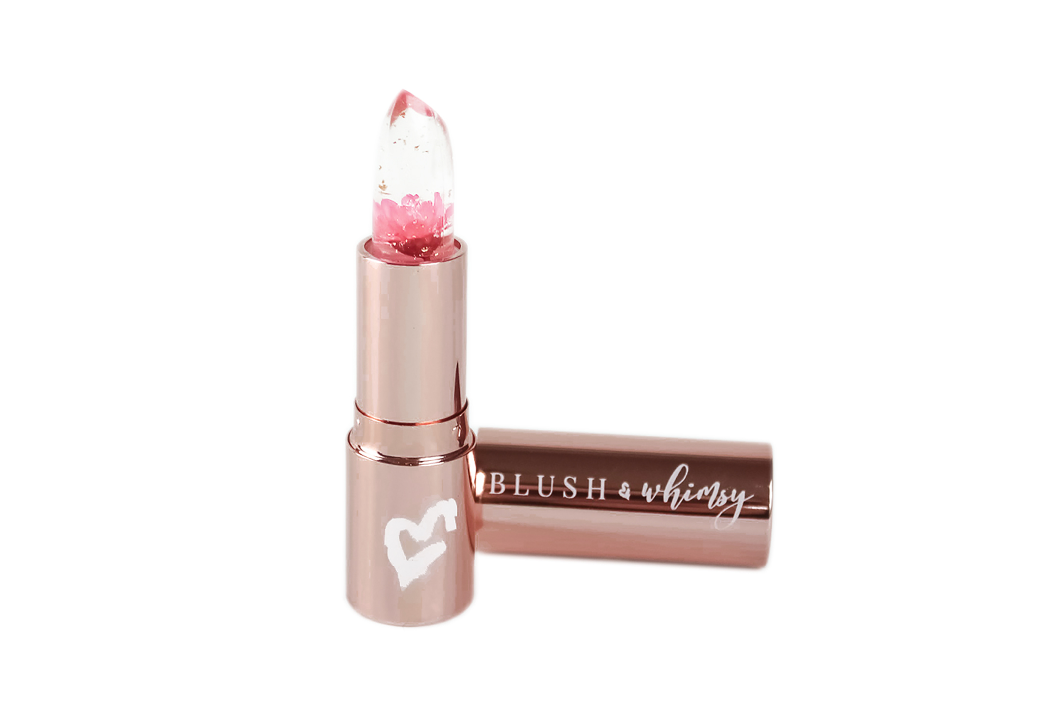 Blush & Whimsy color changing lipstick