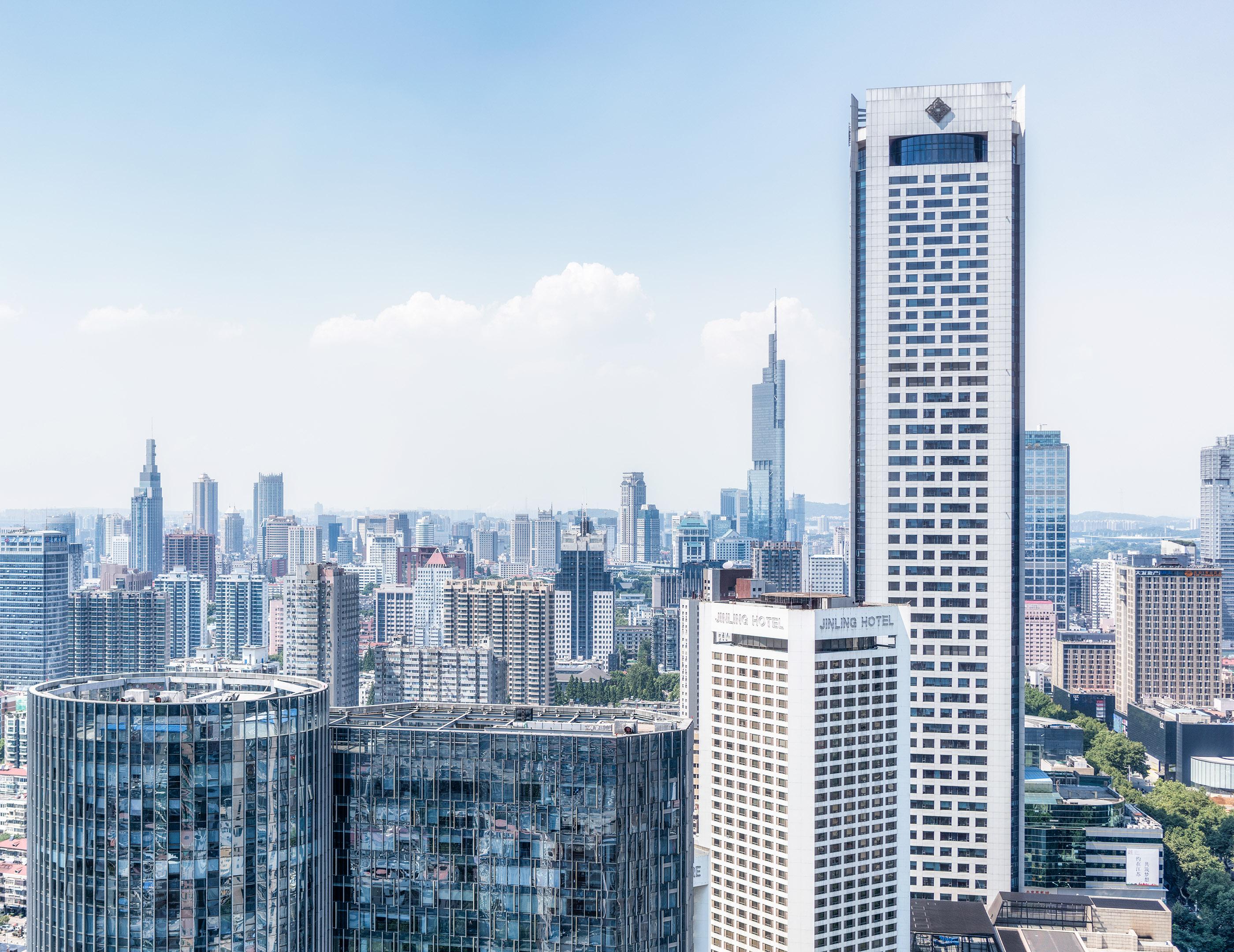 Nanjing Center and Jinling Hotel