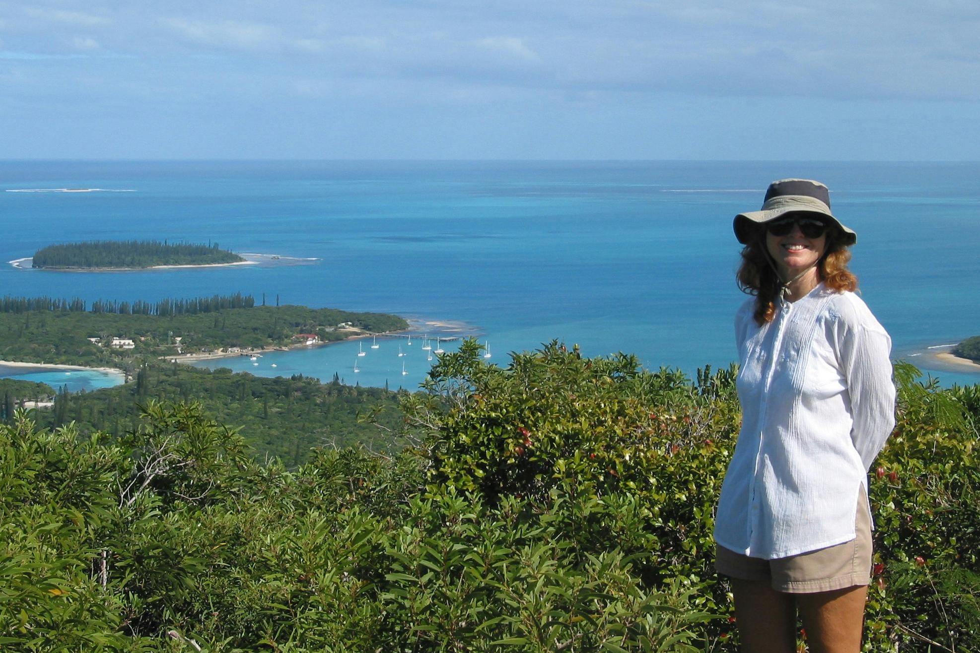 Julie Bradley in New Caledonia