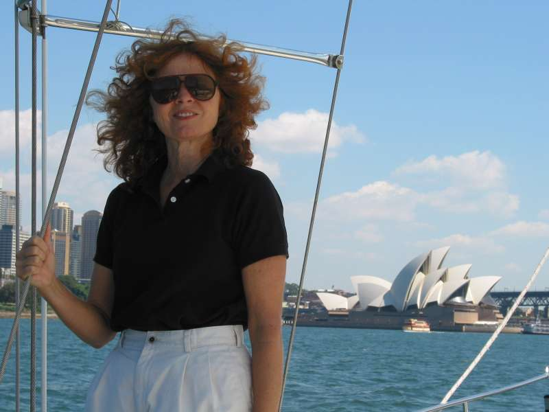 Julie Bradley in Sydney Harbor
