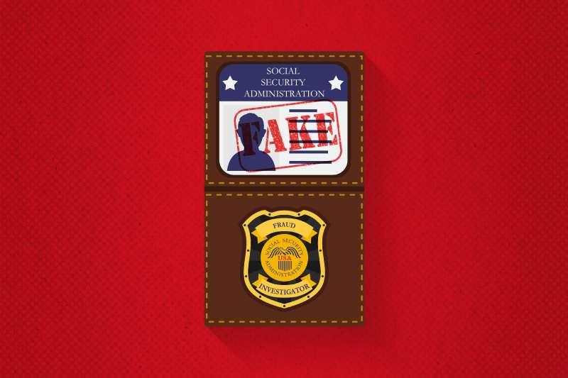 fake social security administration badge