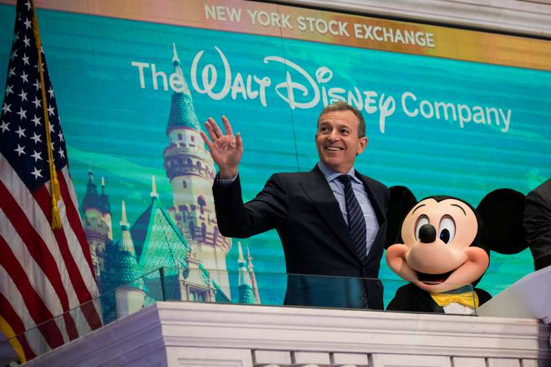 Walt Disney Chairman And CEO Bob Iger Rings Opening Bell At NY Stock Exchange With Mickey Mouse