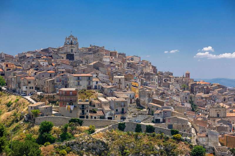 Historic centre of Mussomeli, Sicily, Italy