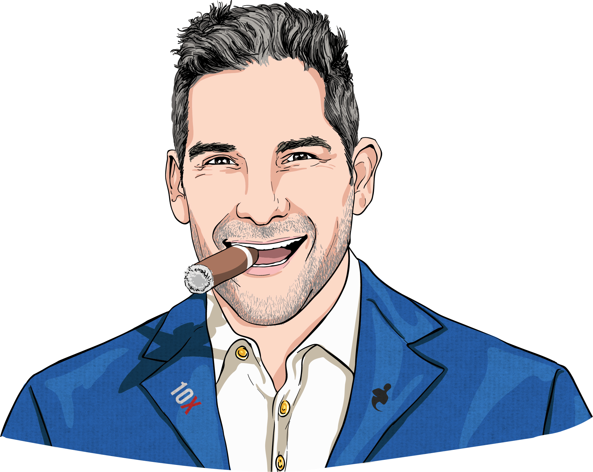 Grant Cardone Portrait with Cigar in Mouth