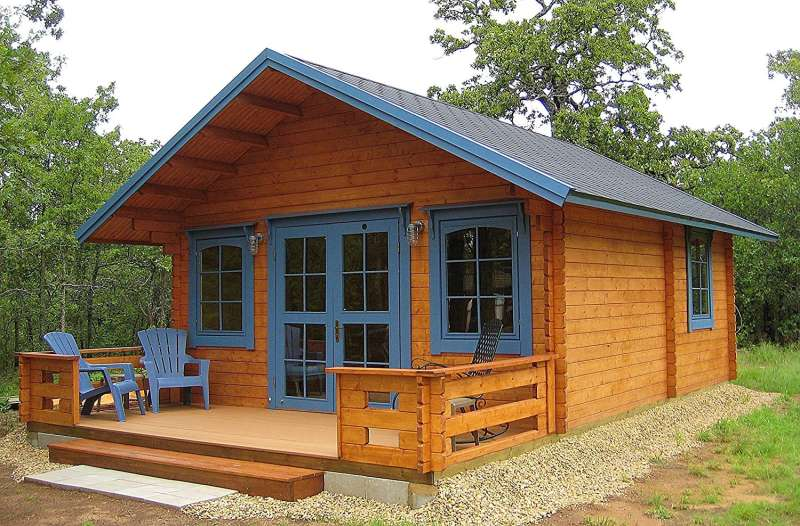 The Lillevilla Allwood Cabin Kit Getaway, on sale for $18,800 on Amazon.