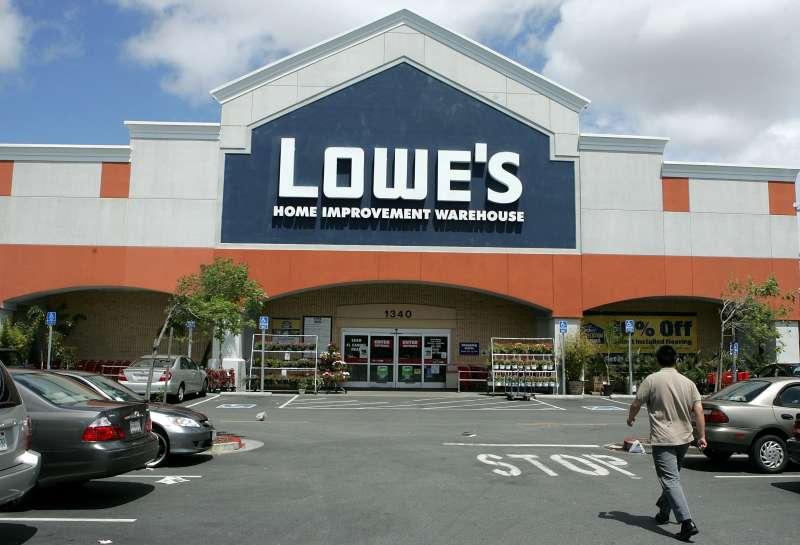 A Lowe's home improvement store in San Bruno, California.