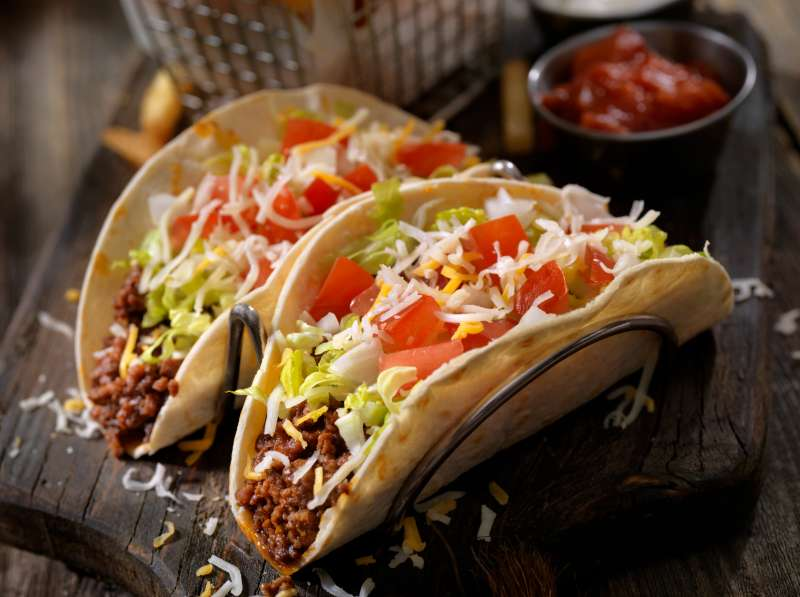 Soft Beef Tacos with Fries