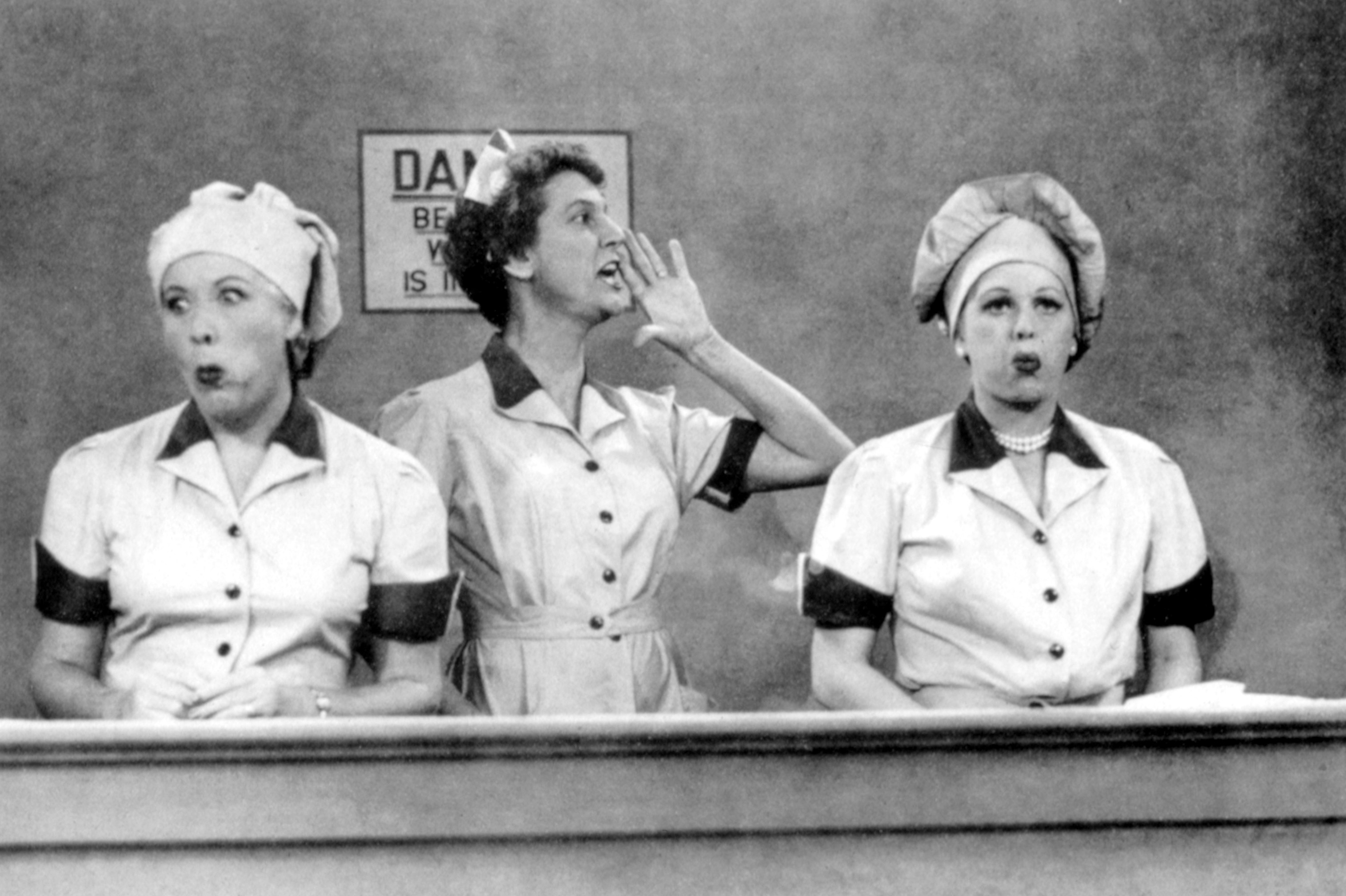 I LOVE LUCY, Vivian Vance, Elvia Allman, Lucille Ball, 2nd season episode, 'Job Switching', aired on