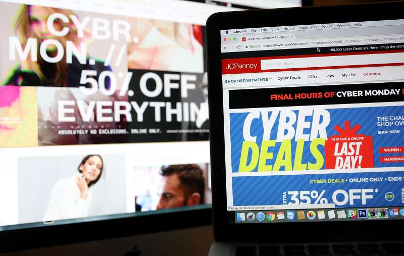 Online Retailers Offer Holiday Sales On  Cyber Monday