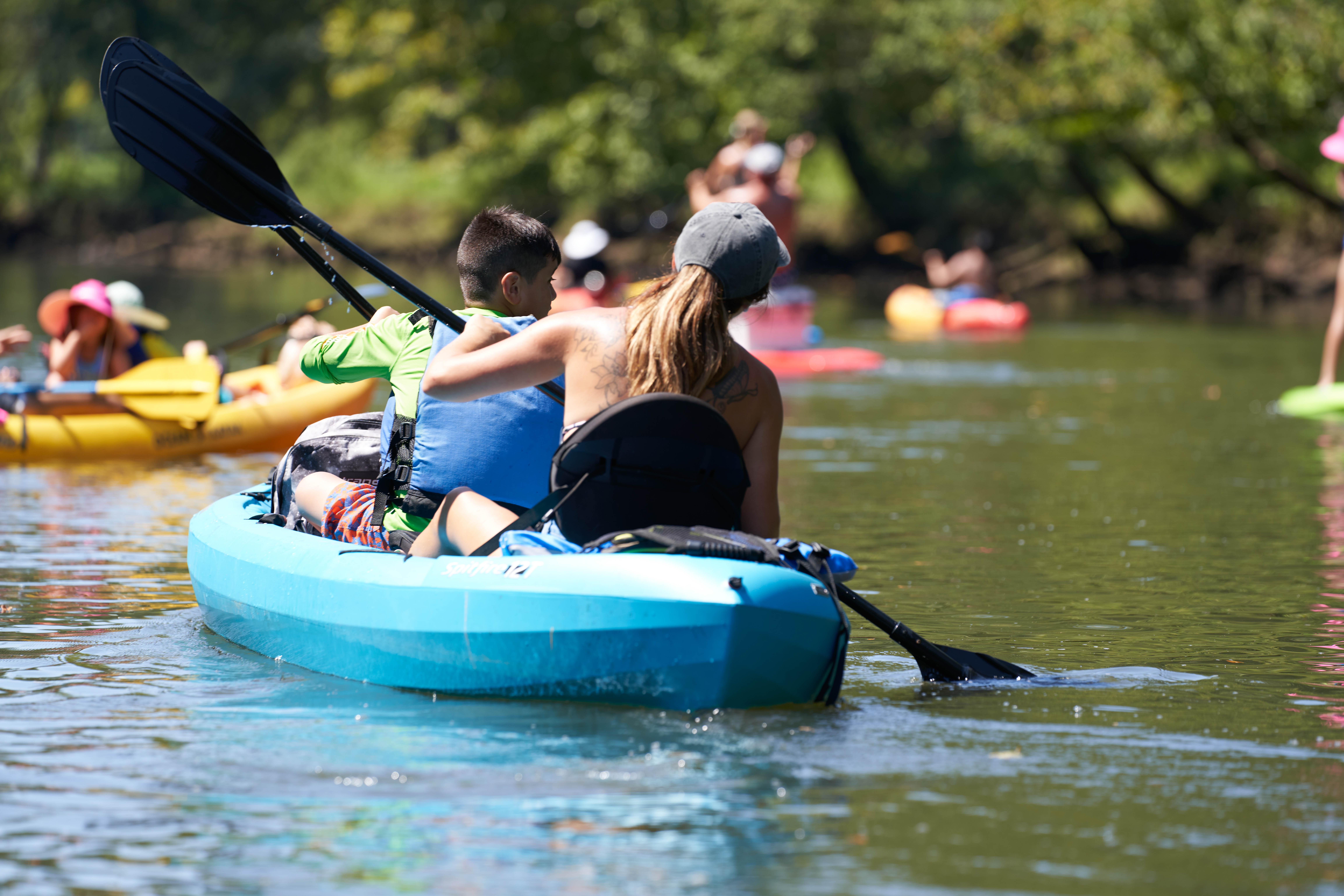 Kayaking in Augusta canal