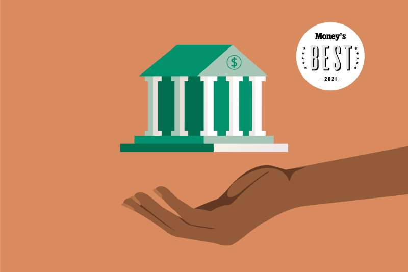 image of a hand holding a bank 2021 Money Best Savings Account
