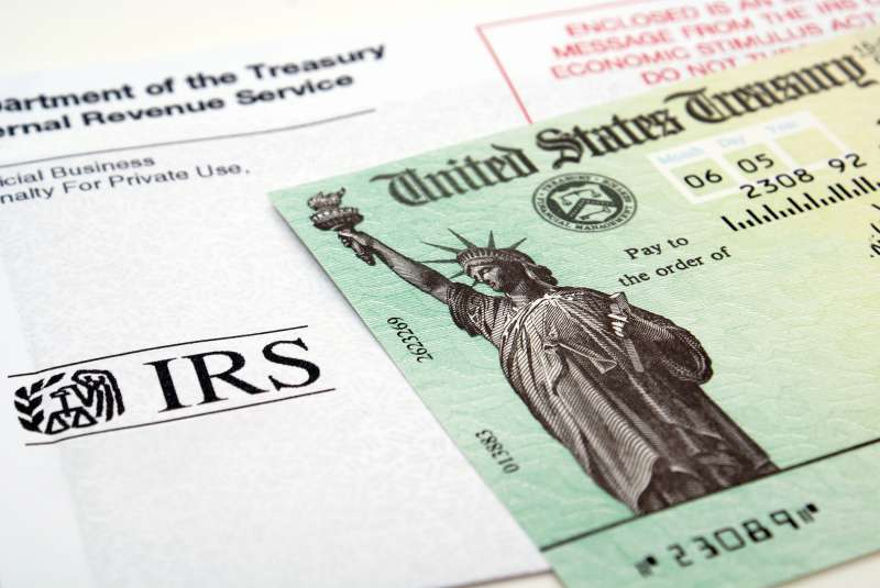 Stimulus check on top of IRS envelope