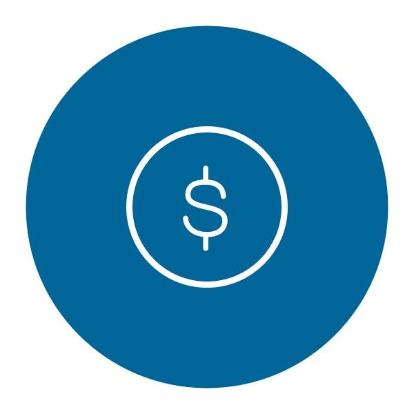 dollar sign inside a circle