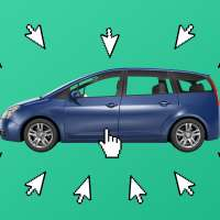 Car Surrounded By Mouse Cursors