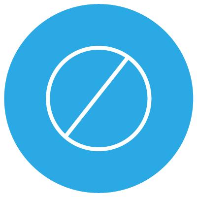 circle with forward slash through it