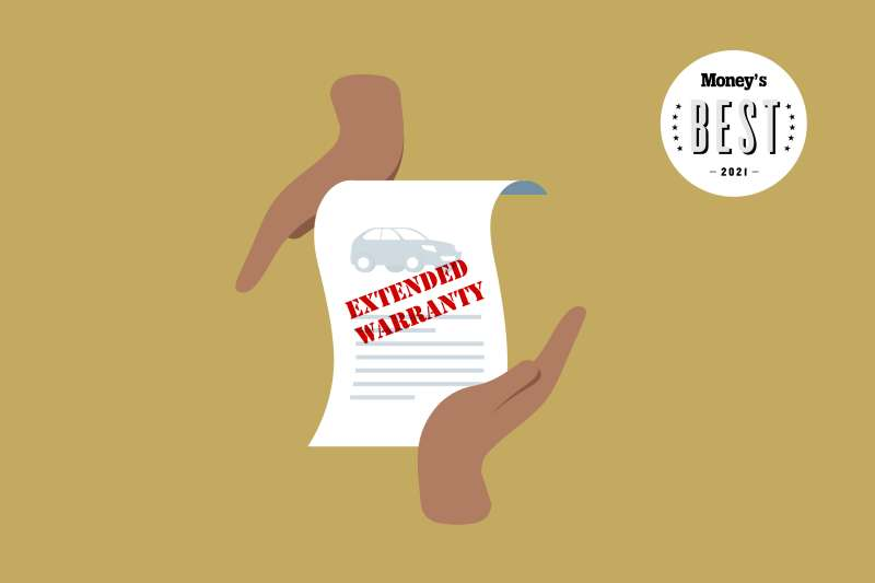 Hands Holding Up An Extended Warranty Document