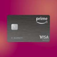 Amazon Prime Rewards Visa Credit Card on a colored background