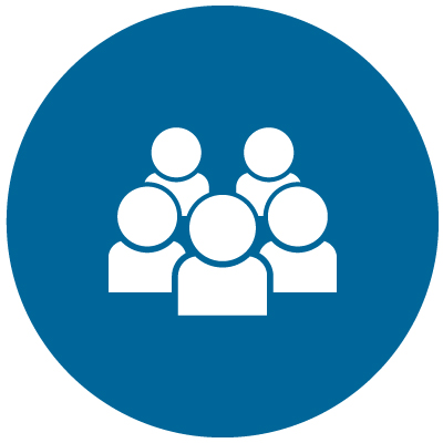 icon with five people: Learn the Different Types of Financial Advisors
