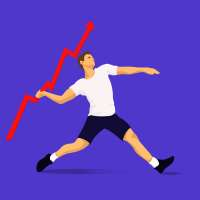 An athletic man tossing a arrow charting upward like a javelin, hoping for success