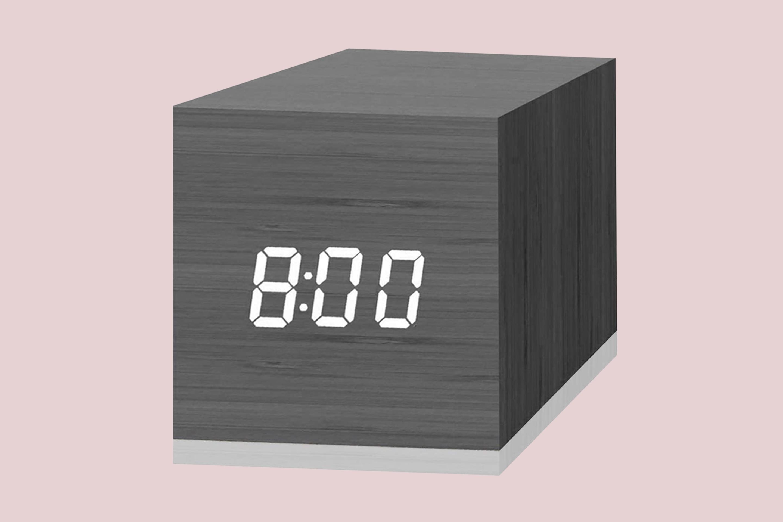 JALL Wooden Cubic Digital Alarm Clock
