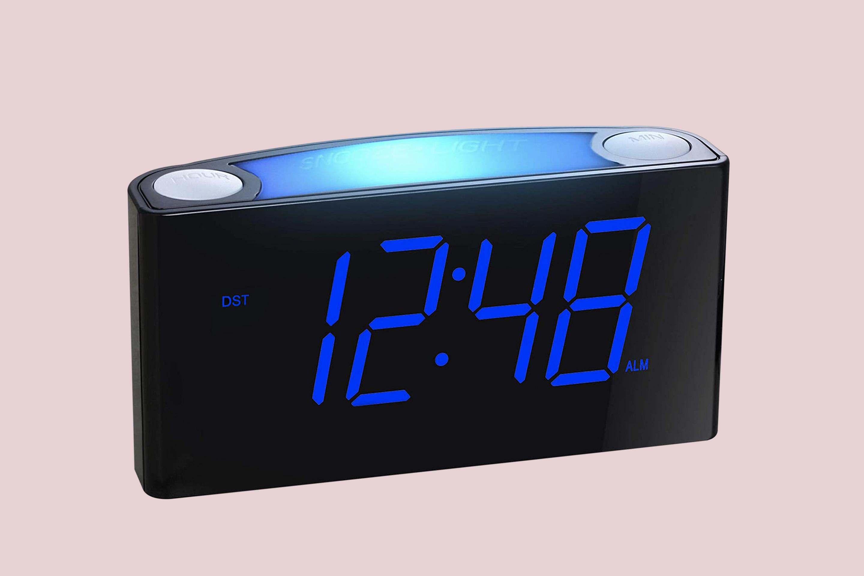Mesqool Alarm Clock USB Charger Night Light
