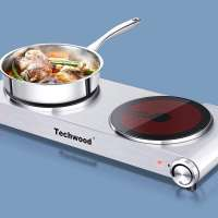 Electric Hot Plate on a colored background