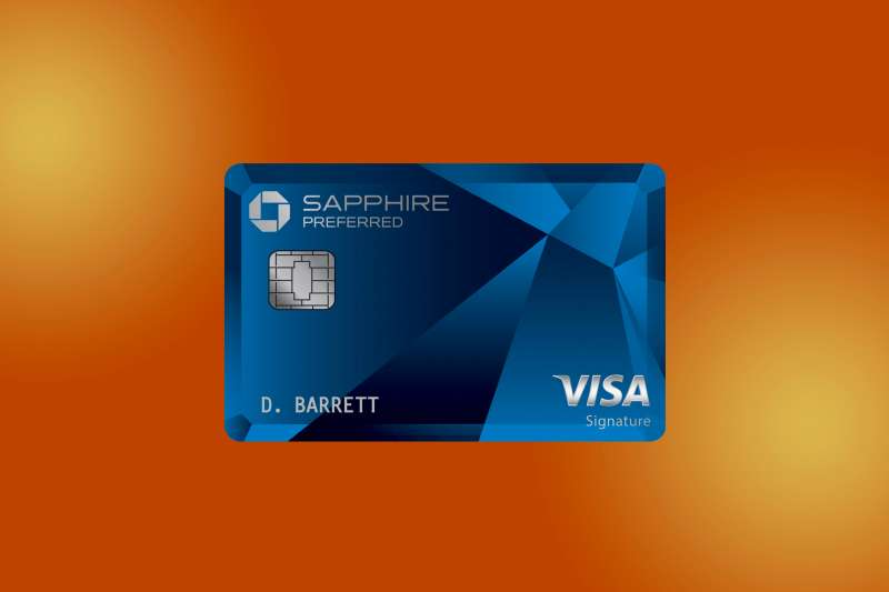 Chase Sapphire Preferred Credit Card on a colored background