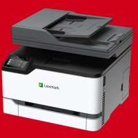 Laser Printer on a colored background