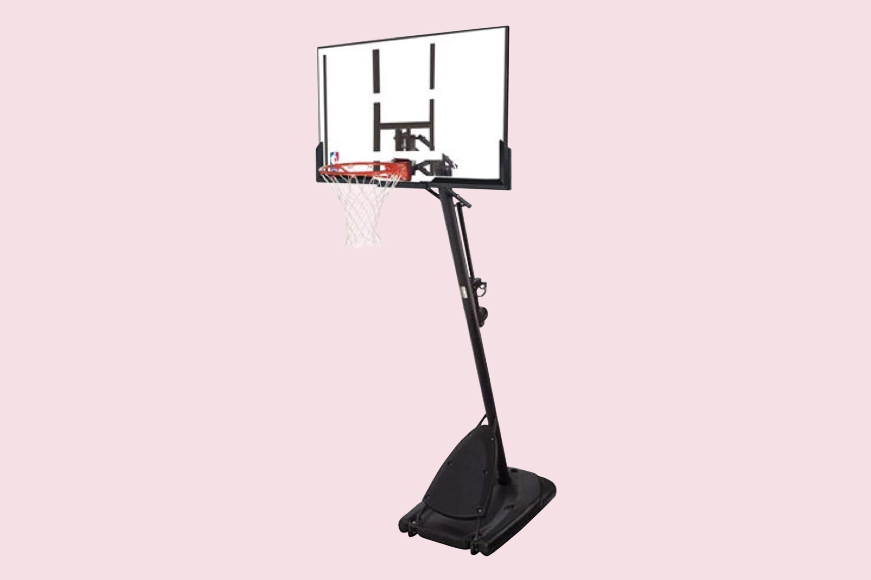 Spalding 54 Polycarbonate Backboard NBA Portable Basketball System Hoop