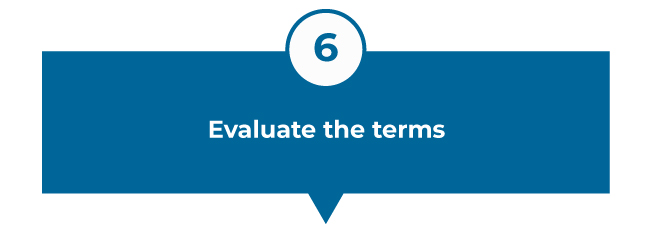 Evaluate the terms