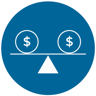 Dollar signs on balance