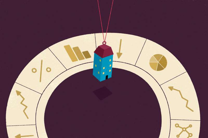 A house on a string, swinging in a prediction ring
