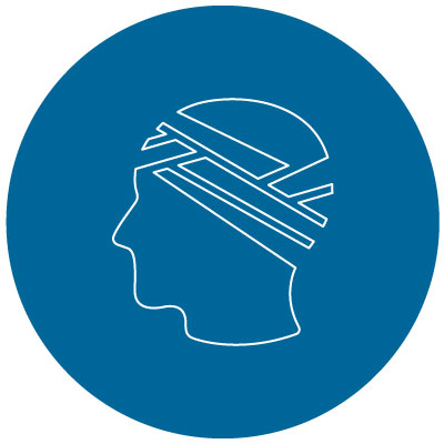 head with a bandage icon