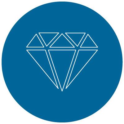 personal property diamond shape icon