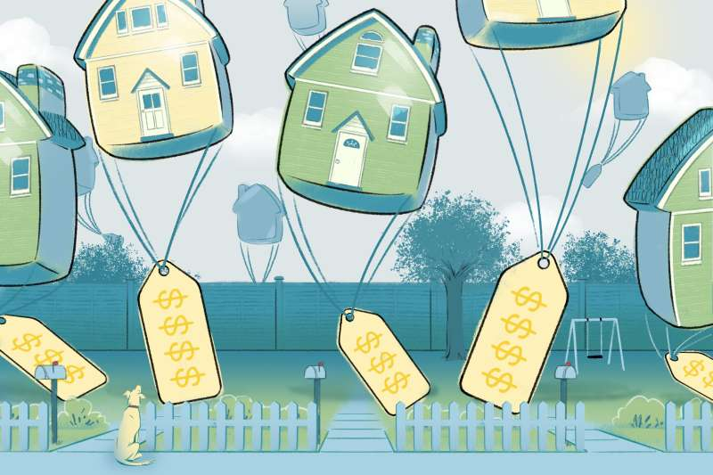 Price tags of properties that seem them rise/fall on the market.