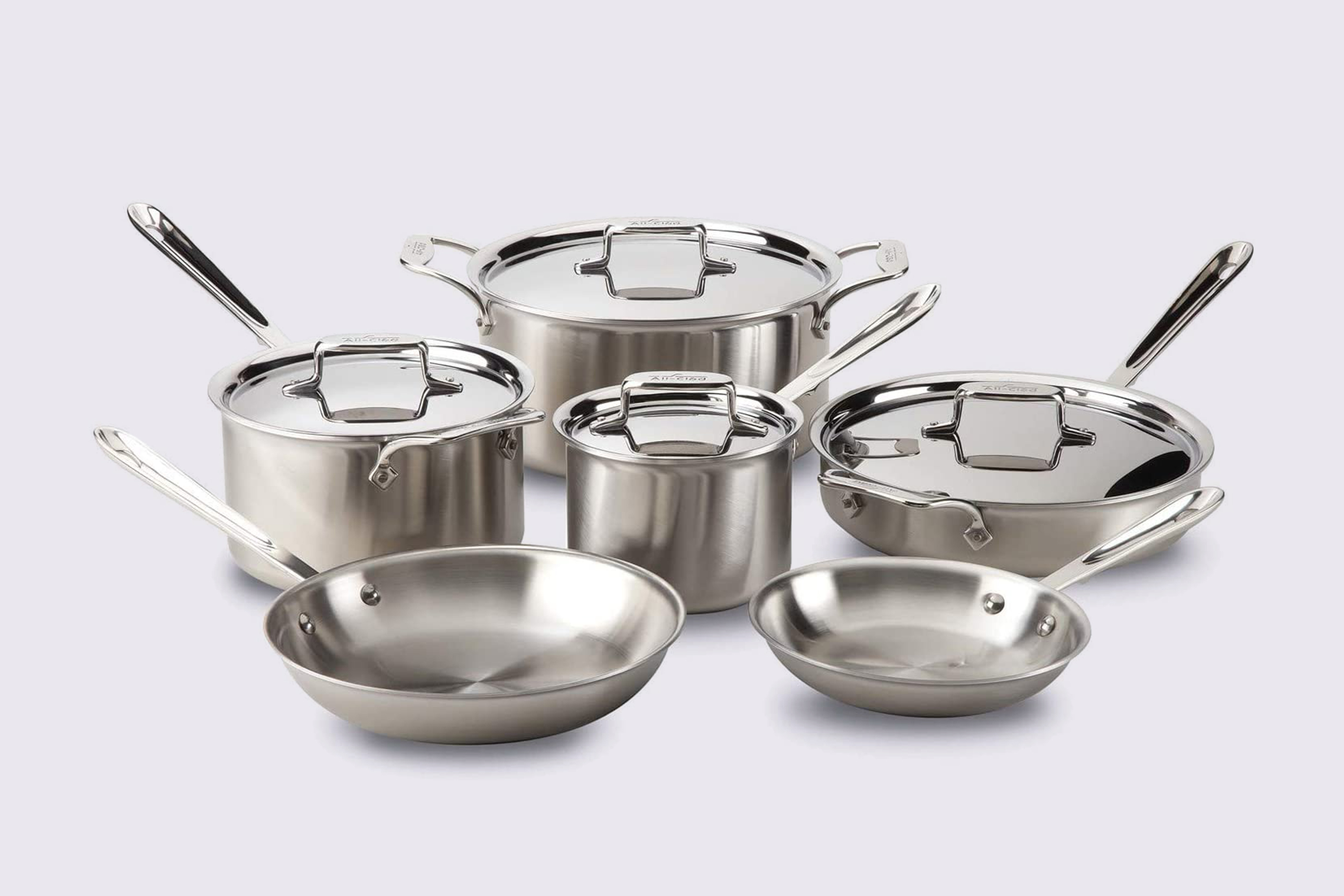 All Clad Brushed D5 Stainless Cookware Set