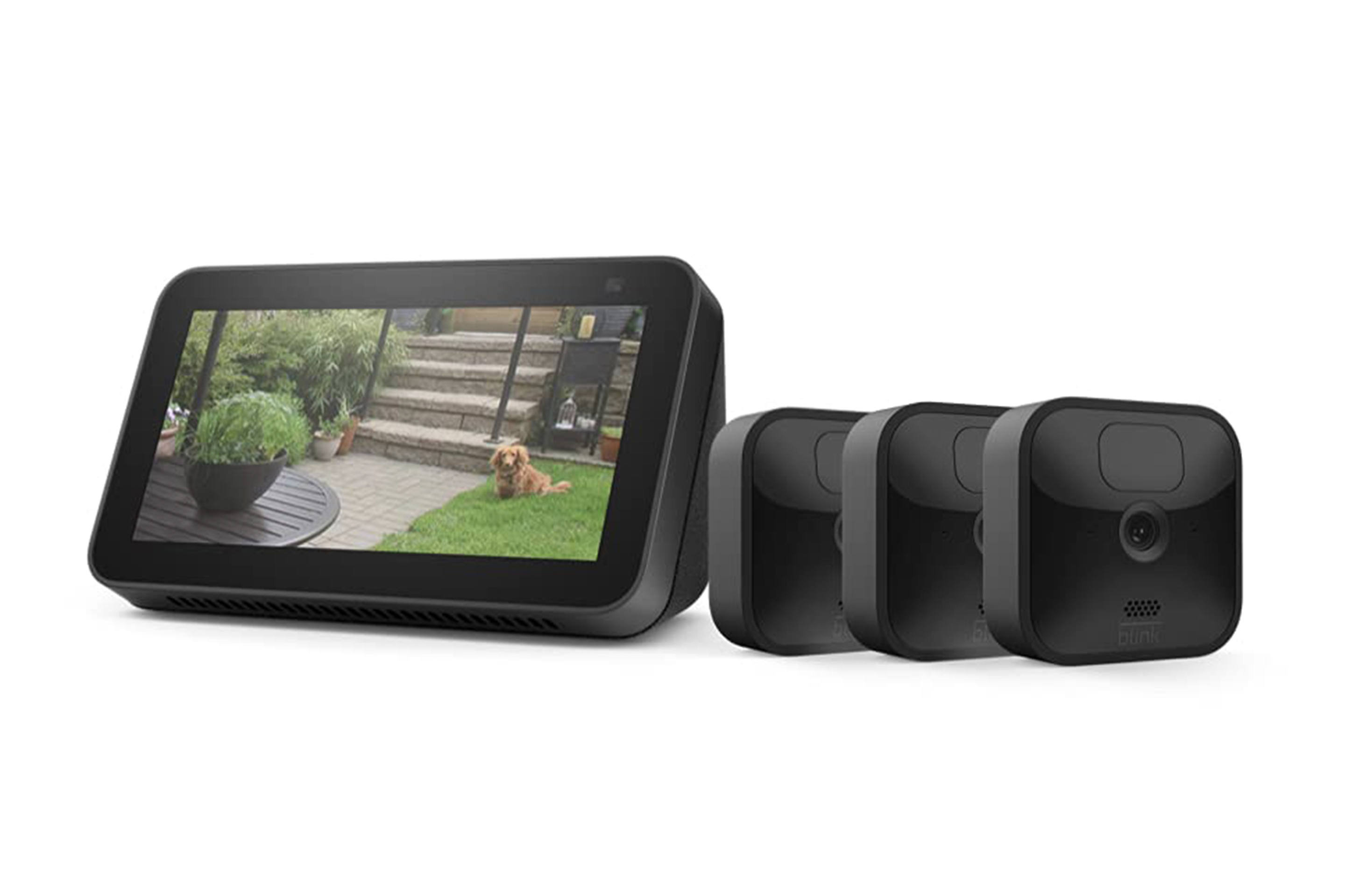 Blink Outdoor 3 Cam Kit bundle with Echo Show