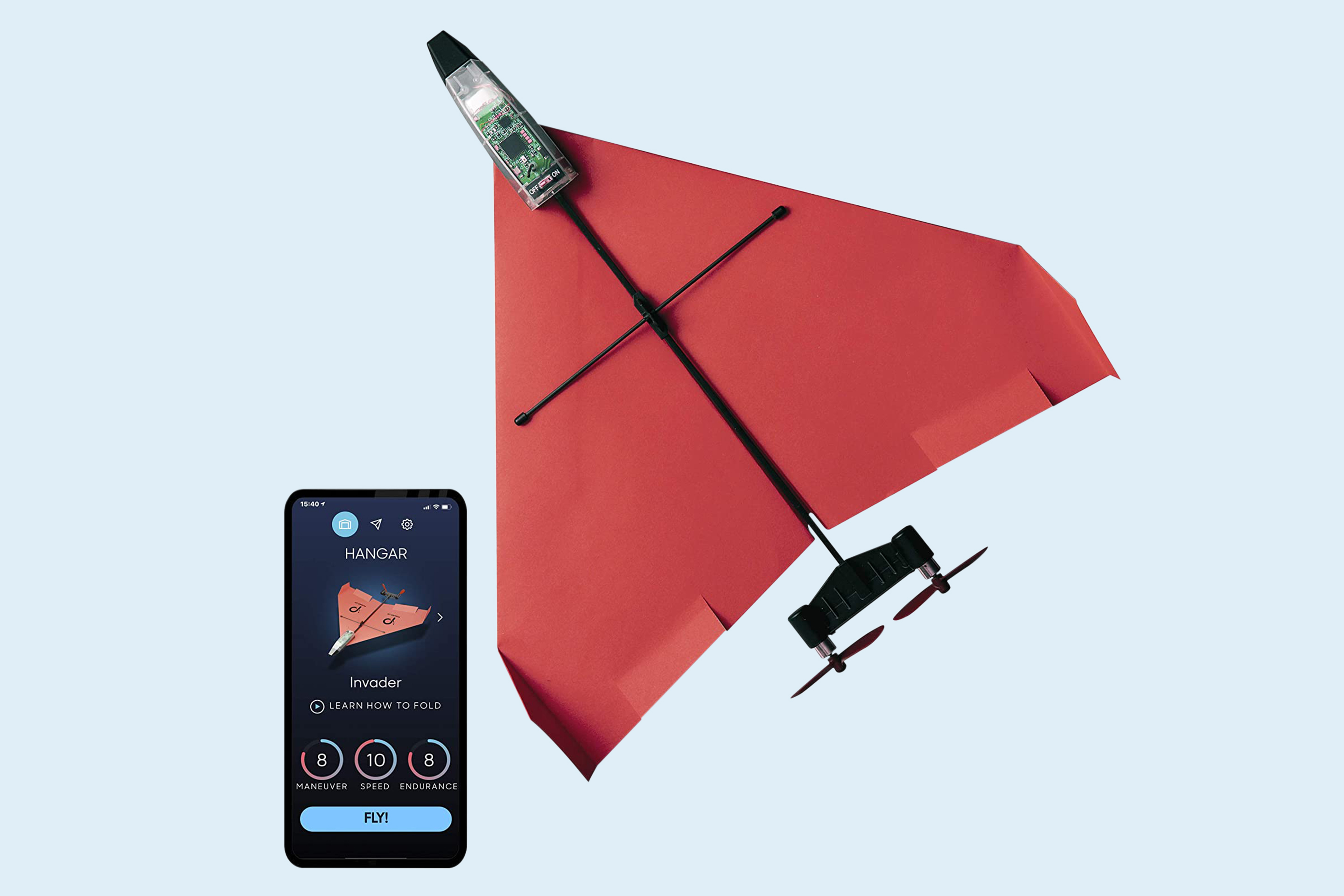 Power Up Next Generation Smartphone Controlled Paper Airplane Kit