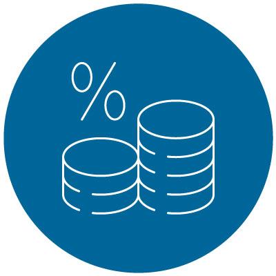 interest rates percent icon