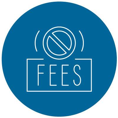 no late fees icon