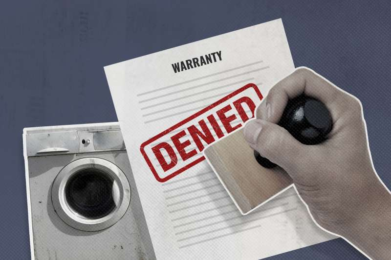 Warranty Document With The Word Denied Stamped Over It