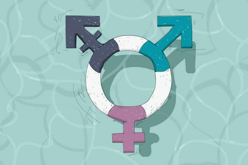 Life Preserver In The Form Of A Transgender Symbol