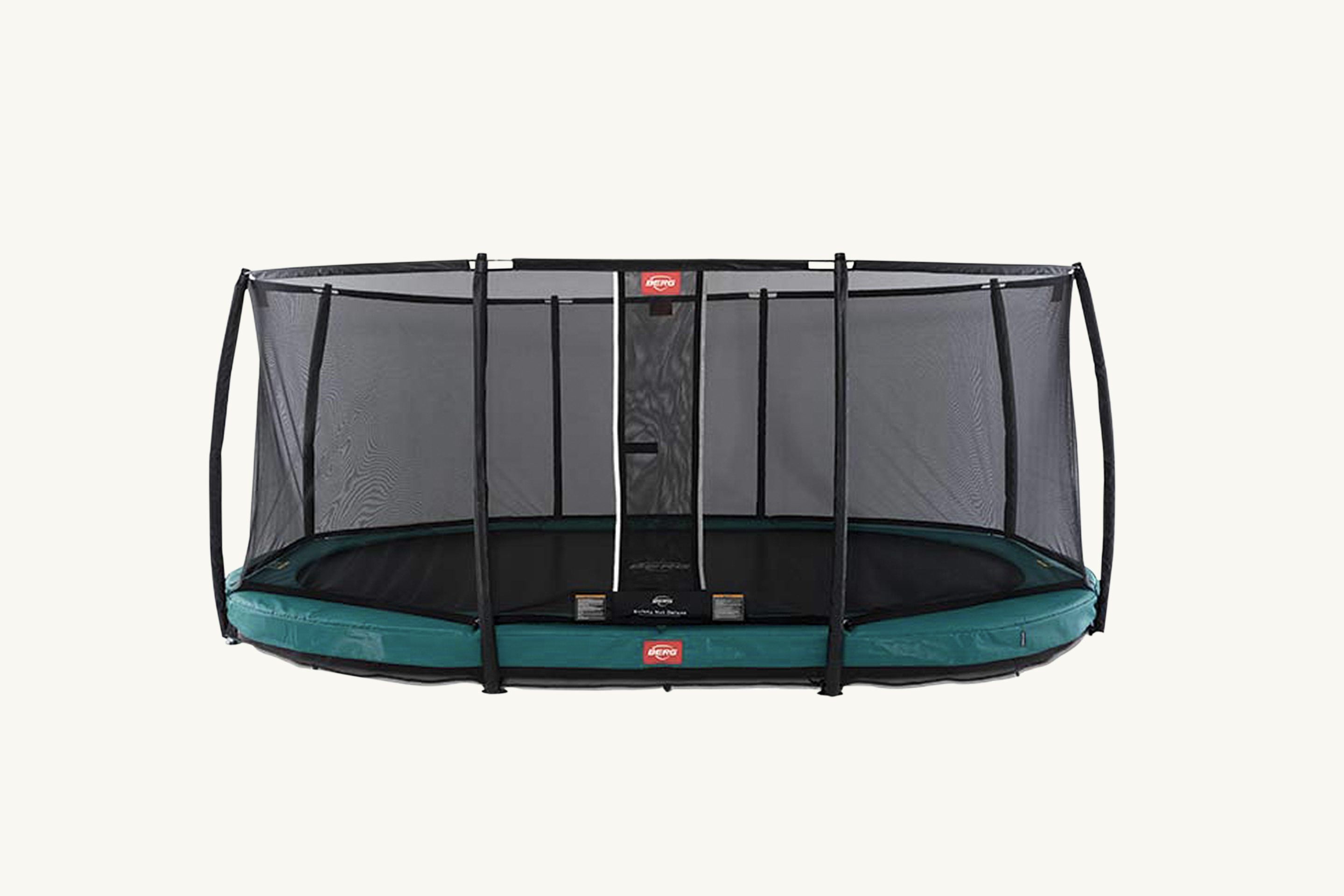 BERG Trampoline Inground Champion Oval 17ft with Safety Enclosure Net